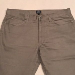 Men's J. Crew khaki denim pants.